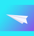 airplane made of paper icon vector image