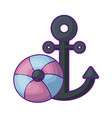 anchor marine with float protection vector image vector image