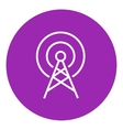 Antenna line icon vector image vector image