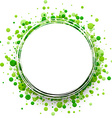 Background with green drops vector image vector image