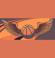 basket ball with wings graphic