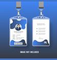 business id card vector image vector image