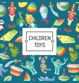 cartoon children toys background with place vector image vector image