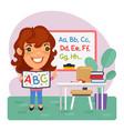 cartoon kids english teacher vector image