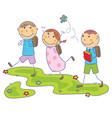 children go to school vector image
