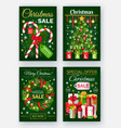 christmas sale discounts on new year posters vector image vector image