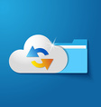 cloud folder files vector image vector image