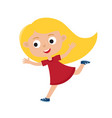 color of running girl isolated vector image