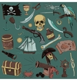 colored Pirates set Hand drawn vector image vector image