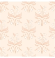 Creamy floral seamless pattern vector image