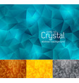 crystal abstract background 3 vector image vector image