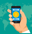 Digital currency bitcoin in smartphone application