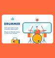 drummer audition contest banner template vector image