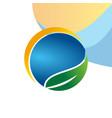 eco business logo vector image vector image