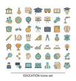 education icon set education icon set vector image
