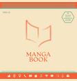 elegant halftone logo with book symbol vector image vector image