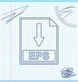 eps file document icon download eps button line vector image vector image