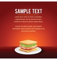 Fast Food Restaurant Menu Card Design vector image vector image