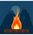 Fire bonfire vector image vector image