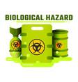 flat icon bioweapon biohazard vector image vector image