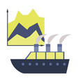 flat icon on stylish background cruise ship vector image