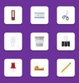 flat icon stationery set of sticky drawing tool vector image vector image