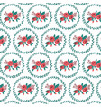 floral bouquet and wreath pattern vector image vector image