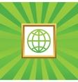 Globe picture icon vector image vector image