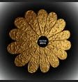 gold flower stylized golden vector image vector image