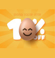 happy easter sale banner easter sale 10 off vector image vector image