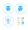 Instructions for face masks vector image