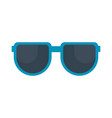 isolated summer sunglasses icon vector image vector image