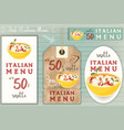 italian risotto stickers set vector image vector image