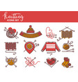 knitting logo templates knitted clothing or vector image vector image
