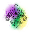 lily with watercolor vector image vector image