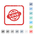 love stamp seal icon rubber watermark vector image vector image