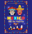 mexico holiday poster vector image