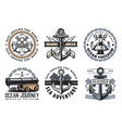 nautical heraldic icons and symbols vector image vector image