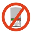 No telephone vector image vector image