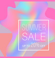 promotional poster with text summer sale on vector image vector image