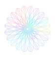 protection guilloche made from bright colorful vector image vector image