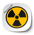 radiation symbol label vector image vector image