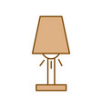 room lamp isolated icon vector image vector image