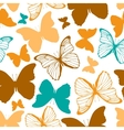 Seamless pattern with outline and silhouette vector image vector image