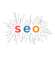 SEO concept in tag cloud vector image vector image