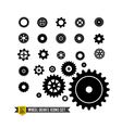 Set of circle wheel gear icon vector image vector image