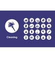 Set of cleaning simple icons vector image vector image