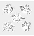 Set of pegasus vector image