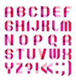 Spectral letters folded of paper ribbon-pink vector image vector image