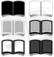stencils of books vector image